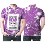HWIC head witch in charge White Purple Drop Painting 3D Designed Allover Gift For Halloween Holiday Lovers Polo shirt