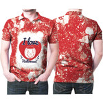 I love Halloween Funny Heart Pumpkins Red White 3D Designed Allover Gift For Halloween Holiday Lovers Polo shirt