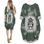 Autism Mom Life Lady Green Drop Painting 3D Designed Allover Gift For Autism Fighters Batwing Pocket Dress