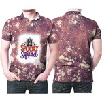 Spooky Squad Ghost Drop Painting Purple 3D Designed Allover Gift For Halloween Holiday Lovers Polo shirt