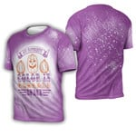 My favorite color is pumpkins space purple 3D Designed Allover Gift For Halloween Holiday Lovers 3D T-shirt