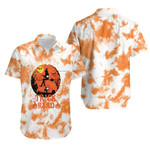 Trick Or Read Pumpkins A Witch Flying Night White Orange Drop Painting 3D Designed Allover Gift For Halloween Holiday Lovers Hawaiian Shirt