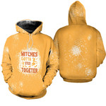 Witches gotta stick together gold 3D Designed Allover Gift For Halloween Holiday Lovers Hoodie