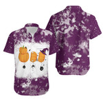 Boo Halloween Ghost Pumpkins Witch Purple White Drop Painting 3D Designed Allover Gift For Halloween Holiday Lovers Hawaiian Shirt