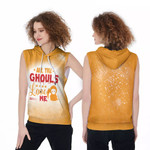 Halloween All The Ghouls Love Me Death Orange 3D Designed Allover Gift For Halloween Holiday Lovers Sleeveless Dress