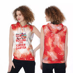 Rolling into kinder garten firefighter red white drop painting 3D Designed Allover Gift For Firefighters Sleeveless Dress