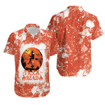 Trick Or Read Halloween Witch Orange White 3D Designed Allover Gift For Halloween Holiday Lovers Hawaiian Shirt