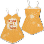 Witches gotta stick together gold 3D Designed Allover Gift For Halloween Holiday Lovers Romper Jumpsuit