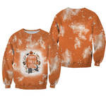 Happy Halloween Funny Witches Pumpkins Orange White Drop Painting 3D Designed Allover Gift For Halloween Holiday Lovers Sweater