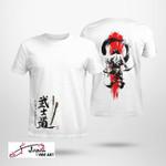 Bushido and seven virtures of samurai japanese culture Tshirt gift for samurai japanese culture lovers Tshirt
