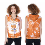 A Grandmother Pretends she Doesnt Know Who You Are On Halloween Pumpkins Orange 3D Designed Allover Gift For Halloween Holiday Lovers Zip Sleeveless Hoodie