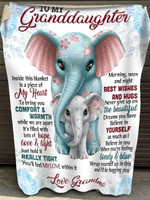 To my granddaughter my heart hope love & light best wishes and hugs Elephants quilt blanket gift from grandma to granddaughter Quilt Blanket
