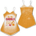 Halloween All The Ghouls Love Me Death Orange 3D Designed Allover Gift For Halloween Holiday Lovers Romper Jumpsuit