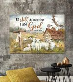 Lamb be still & know that i am god psalm bible jesus cross poster canvas gift for jesus lovers Poster