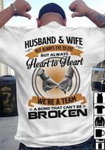 Husband & wife not always eye to eye but always heart to heart wedding t shirt gift for couple Tshirt