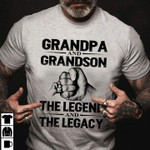 Grandpa and grandson the legend and the legacy t shirt gift for grandfather Tshirt