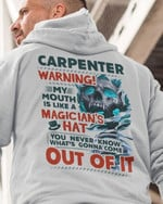 Carpenter warning my mouth is like a magician's hat out of it Lava Skull t-shirt gift for Carpenters Tshirt
