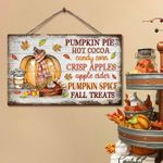 Pumpkin Pie Hot Cocoa Candy Corn Crisp Apples Apple Cider Pumpkin Spice poster gift for Halloween holiday lovers Poster