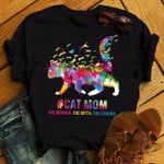 Cat Mom The Woman The Myth The Legend Classic black t-shirt gift for Cats Lovers Cats Moms Tshirt