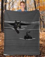 Playful black cats get through the cracks quilt blanket best gift for cat lovers Quilt Blanket