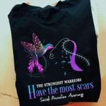 The strongest warriors have the most scars Suicide Prevention prevention t-shirt gift for Suicide Prevention fighters Tshirt