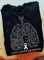Lung Cancer prevention White Ribbon Symbol Logo Classic T-shirt Gift For Lung Cancer Fighters Tshirt