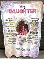 to my daughter i want you to know i love you for the little girl quilt blanket best gift for daughter Quilt Blanket