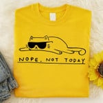Nope Not Today Cool Funny Cats Classic T-shirt gift for Cats Lovers Cats Moms Tshirt