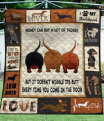 I love my Dachshund Life Is better with a wiener quilt blanket gift for Dachshund lovers Dachshund moms Quilt Blanket