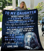 To my daughter never forget that I love you as much as I believe in you Tiger quilt gift from Dad to daughter Quilt Blanket