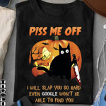 Cat annoy me i will slap you so hard even google won t be able to find you funny t shirt gift for women Tshirt