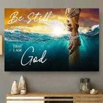 God save people from drowning be still and know that i am god poster canvas gift for god believers Poster