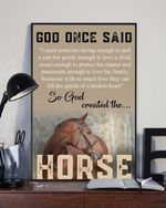 god once said so god created the horsep poster canvas best gift for jesus lover for horse lovers Poster
