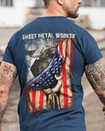 Sheet metal worker American Flag country classic t-shirt gift for sheet metal workers Tshirt