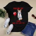 annoy me off i will make you float too The cat in the clown costume is looking at the balloon t shirt best gift for cat lovers Tshirt