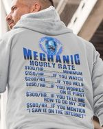 mechanic hourly rate minimum if you watch help worked hoodie best gift for mechanic Tshirt
