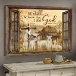 Lamb be still & know that i am god bible poster canvas gift for god believers Poster