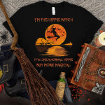 i am the hippie witch it is like a normal hippie moon Halloween t shirt best gift for Halloween lovers Tshirt
