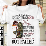 i am daughter of god i was born in may when life tried to break me t shirt best gift for may girl Tshirt