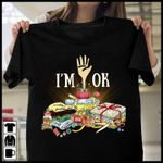 i am ok neatly folded clothes stacked on top of each other t shirt best gift for sewing lovers Tshirt