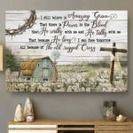 i still believe amazing grace that there is power in the blood farmhouses cross poster canvas best gift for jesus lovers Poster