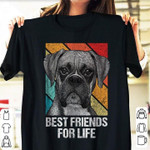 Boxer dog face best friends for life t shirt gift for people love boxer dog Tshirt