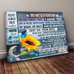 To my daughter never forget that i love you sunflower butterflies poster canvas best gift for daughter Poster