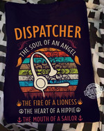 Dispatcher the soul an angel the fire of a lioness t shirt best gift for dispatcher Tshirt