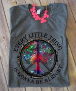 Hippie symbol every little thing is gonna alright t shirt gift for hippie lovers Tshirt
