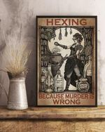 hexing because is wrong vintage girl is cooking poster canvas bets gift for him for her Poster