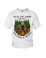 Not all who wander are lost some became my breakfast camping with bear in forest Tshirt gift for bear lovers Tshirt
