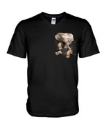 Cute lovely little elephant in pocket Tshirt gift for elephant lovers elephant enthusiasts Tshirt
