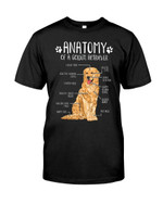 Anatomy of a golden retriever clever mind selective hearing device informative Tshirt gift for golden retriever lovers dog lovers Tshirt