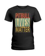 Pitbull lives matter living with cute pitbull Tshirt gift for pitbull lovers dog lovers pitbull mom pitbull dad Tshirt
